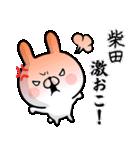 【柴田】専用名前ウサギ(個別スタンプ:07)