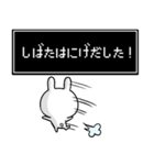 【柴田】専用名前ウサギ(個別スタンプ:11)