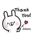 【柴田】専用名前ウサギ(個別スタンプ:24)