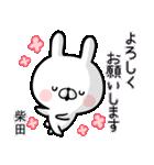 【柴田】専用名前ウサギ(個別スタンプ:37)
