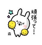【森】専用名前ウサギ(個別スタンプ:34)