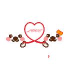 メッセージと顔![ラブxラブ!LOVE](個別スタンプ:01)