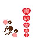 メッセージと顔![ラブxラブ!LOVE](個別スタンプ:03)