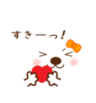 メッセージと顔![ラブxラブ!LOVE](個別スタンプ:05)