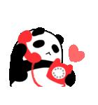 パンダと白いハムスター2(ラブラブ編)(個別スタンプ:3)