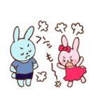 可愛いカップルうさぎ(個別スタンプ:08)
