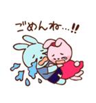 可愛いカップルうさぎ(個別スタンプ:09)