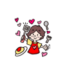 かわいい女子の♥彼氏専用ラブスタンプ(個別スタンプ:35)