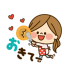 かわいい主婦の1日【ラブラブ編2】(個別スタンプ:17)