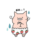 苺パンツぶた(個別スタンプ:14)
