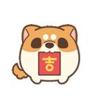 アワ柴犬の日常-クリスマスと新年の特別篇(個別スタンプ:13)
