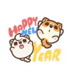 アワ柴犬の日常-クリスマスと新年の特別篇(個別スタンプ:25)