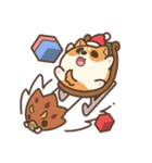 アワ柴犬の日常-クリスマスと新年の特別篇(個別スタンプ:27)