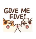 アワ柴犬の日常-クリスマスと新年の特別篇(個別スタンプ:37)