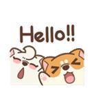 アワ柴犬の日常-クリスマスと新年の特別篇(個別スタンプ:38)