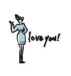 Woman R LOVE【英語 English】(個別スタンプ:02)