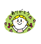 三つ編みリボンの女の子(個別スタンプ:08)
