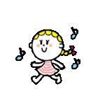 三つ編みリボンの女の子(個別スタンプ:12)