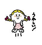三つ編みリボンの女の子(個別スタンプ:19)
