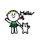 三つ編みリボンの女の子(個別スタンプ:23)