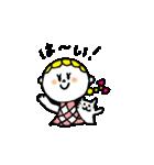 三つ編みリボンの女の子(個別スタンプ:32)