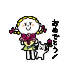 三つ編みリボンの女の子(個別スタンプ:37)