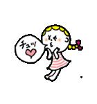 三つ編みリボンの女の子(個別スタンプ:38)