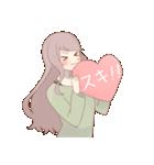 恋する女子たち(個別スタンプ:01)
