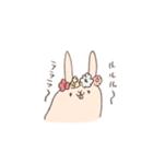 ゆるゆるウサギ《はる風味》(個別スタンプ:05)