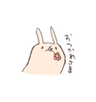 ゆるゆるウサギ《はる風味》(個別スタンプ:07)
