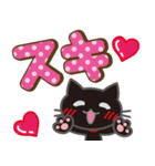 黒ねこ×ラブラブ♥(個別スタンプ:18)