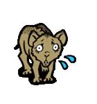 ラララ♬動物がいっぱい♬驚き!汗、涙!(個別スタンプ:04)