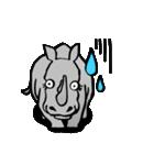 ラララ♬動物がいっぱい♬驚き!汗、涙!(個別スタンプ:08)