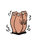 ラララ♬動物がいっぱい♬驚き!汗、涙!(個別スタンプ:24)