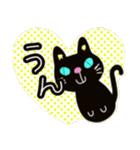 黒猫ハート(個別スタンプ:02)