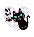 黒猫ハート(個別スタンプ:12)