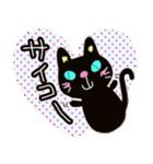 黒猫ハート(個別スタンプ:32)