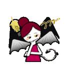 ほんわか天使ちゃんといたずら悪魔ちゃん 2(個別スタンプ:11)