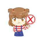 Zaya cute girl(個別スタンプ:16)