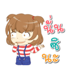 Zaya cute girl(個別スタンプ:20)