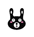 BLACK BUNNY 001(個別スタンプ:05)