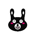 BLACK BUNNY 001(個別スタンプ:06)