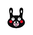 BLACK BUNNY 001(個別スタンプ:07)