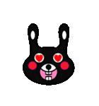 BLACK BUNNY 001(個別スタンプ:08)