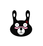 BLACK BUNNY 001(個別スタンプ:21)
