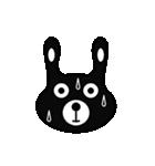 BLACK BUNNY 001(個別スタンプ:29)