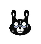 BLACK BUNNY 001(個別スタンプ:31)