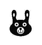 BLACK BUNNY 001(個別スタンプ:37)