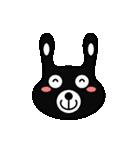 BLACK BUNNY 001(個別スタンプ:39)
