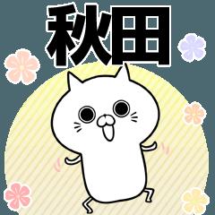 秋田の元気な敬語入り名前スタンプ(40個入)